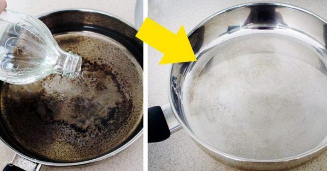 Limpia tu sartén quemado y déjalo cómo nuevo con esta mezcla